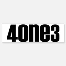 4one3black Bumper Bumper Sticker