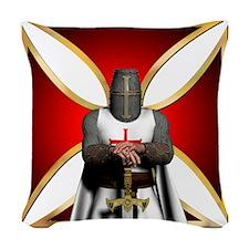 TemplarandCross Woven Throw Pillow