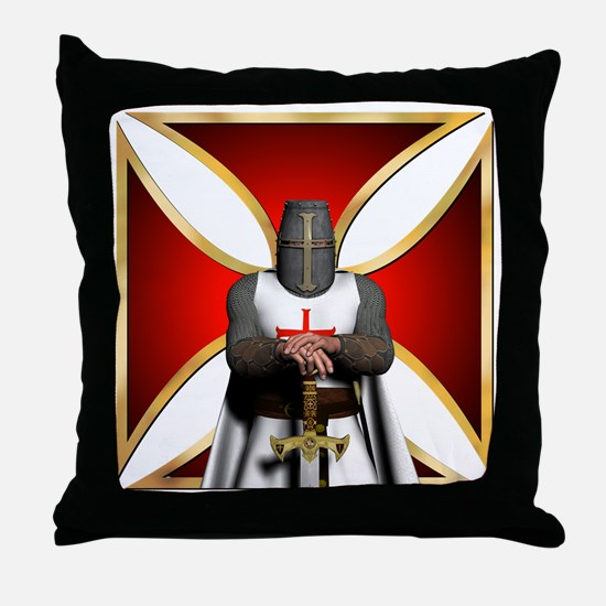 TemplarandCross Throw Pillow