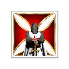 "TemplarandCross Square Sticker 3"" x 3"""
