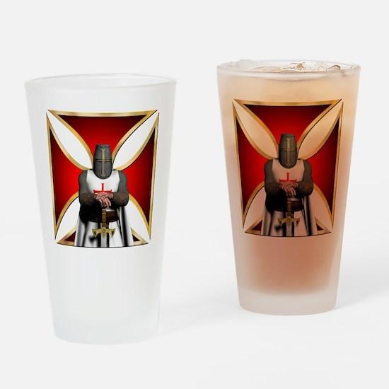 TemplarandCross Drinking Glass