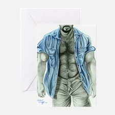 Blue shirt2 Greeting Cards (Pk of 10)