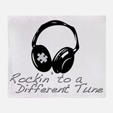 Rockin to a Different Tune Silver Throw Blanket