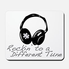 Rockin to a Different Tune Silver Mousepad