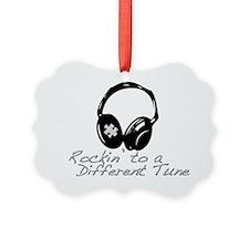 Rockin to a Different Tune Silver Ornament