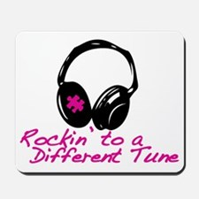 Rockin to a Different Tune Pink Mousepad