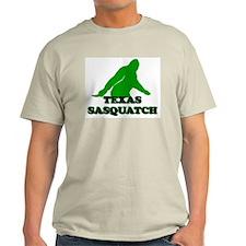 TEXAS BIGFOOT TEXAS SASQUATCH Ash Grey T-Shirt