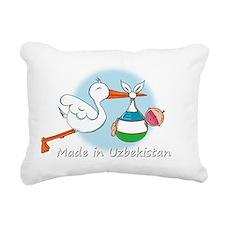 stork baby uzbek white Rectangular Canvas Pillow