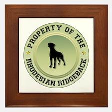 Rhodesian Property Framed Tile
