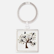 Ravens Tree Square Keychain