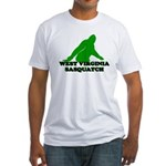 WEST VIRGINIA BIGFOOT WEST VI Fitted T-Shirt
