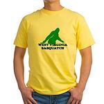 WEST VIRGINIA BIGFOOT WEST VI Yellow T-Shirt
