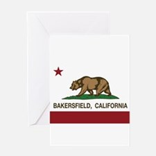 california flag bakersfield Greeting Cards