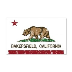 california flag bakersfield distressed Wall Decal