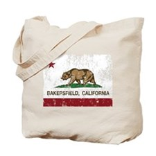 california flag bakersfield distressed Tote Bag