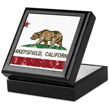 california flag bakersfield distressed Keepsake Bo