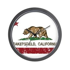 california flag bakersfield distressed Wall Clock