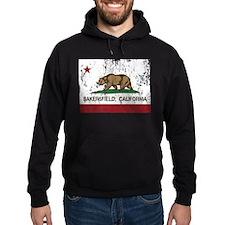 california flag bakersfield distressed Hoodie