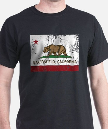 california flag bakersfield distressed T-Shirt