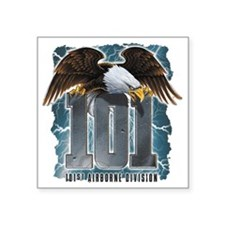"Airborne101 Square Sticker 3"" x 3"""