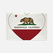 california flag bakersfield heart Magnets