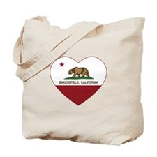 california flag bakersfield heart Tote Bag