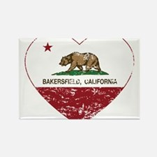 california flag bakersfield heart distressed Magne