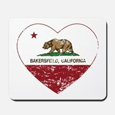 california flag bakersfield heart distressed Mouse