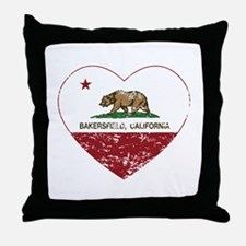 california flag bakersfield heart distressed Throw