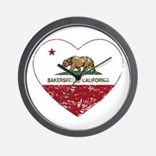 california flag bakersfield heart distressed Wall