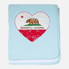 california flag bakersfield heart distressed baby
