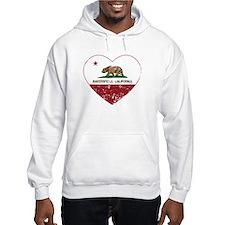 california flag bakersfield heart distressed Hoodi