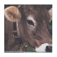 Cute Cow bell Tile Coaster
