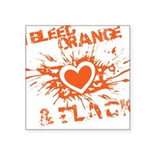 "BleedHeart_Blk Square Sticker 3"" x 3"""
