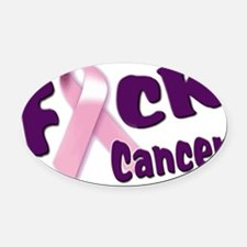 f-cancer-long copy.gif Oval Car Magnet