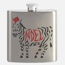 Christmas Noel Zebra Flask