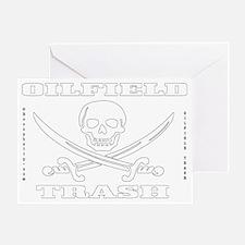 Skull Trash use dd A4 using Clear Wh Greeting Card