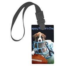 Happy Fathers Day boxer card Luggage Tag