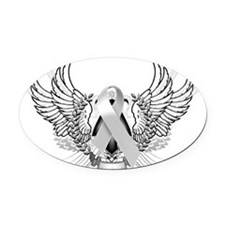 Awareness Tribal Grey Oval Car Magnet