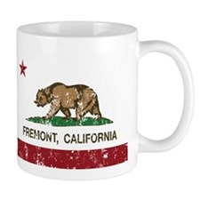 california flag fremont distressed Mugs