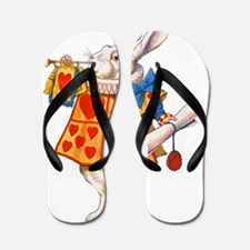 ALICE_WHITE RABBIT_FINAL copy Flip Flops