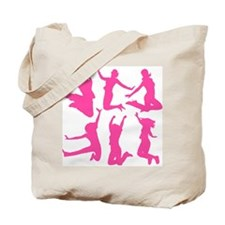 pink dancing girls Tote Bag