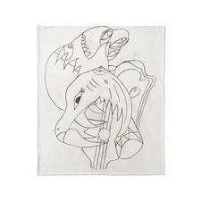 Abstract Art Framed Print Throw Blanket