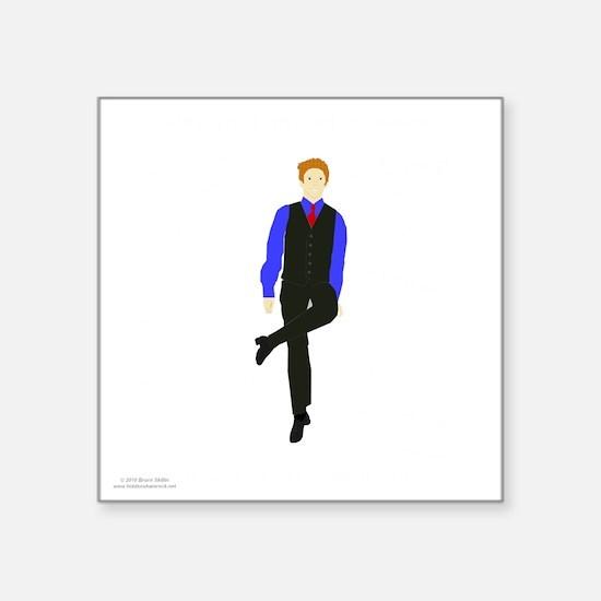 """WhyDoI_10x10_DARK_apparel Square Sticker 3"""" x 3"""""""