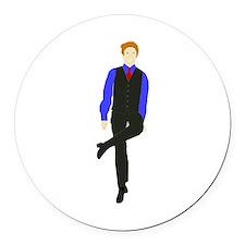 WhyDoI_10x10_DARK_apparel Round Car Magnet