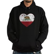 california flag fremont heart distressed Hoodie