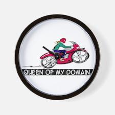 """Queen of my domain."" Wall Clock"