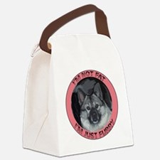 furry norwegian elkhound Canvas Lunch Bag