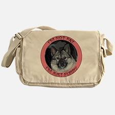furry norwegian elkhound Messenger Bag