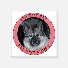 "furry norwegian elkhound Square Sticker 3"" x 3"""